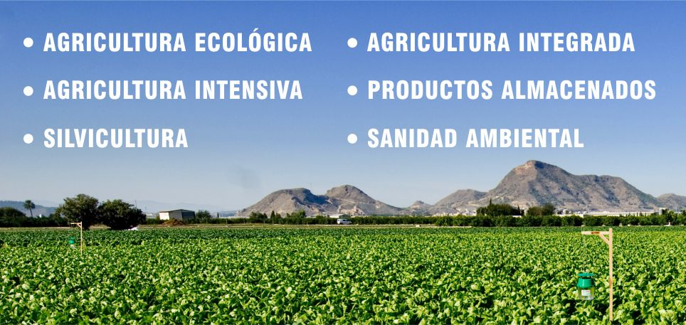 agricultura ecológica, agricultura intensiva, silvicultura, agricultura integrada, productos almacenados, sanidad ambiental
